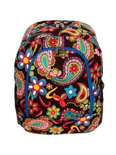 $13.75 Whimsical Wonderland Large Backpack with Turquoise Trim