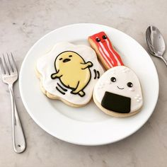 Mom always told me to start my day off with a BIG yummy breakfast. I couldn't agree with her more  #takenoutofcontext #lol #madebymush #mushkies #gudetama #gudetamacookie #cute #yummy #forkyeah