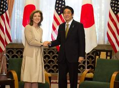 Caroline Kennedy meets with the Prime Minister of Japan. As Ambassador.