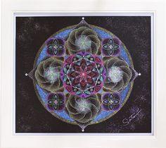 点描 曼荼羅 宇宙に花を咲かせましょう CE006