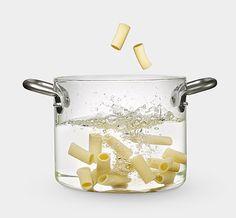 Glass pot by Massimo Castagna.