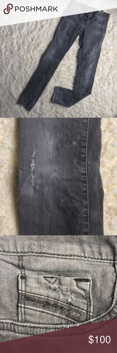 Diesel Stretch LIVIER Jeans Dark grey ss-legging LIVIER jeans. Wash 08827_stretch. Faux front pockets. Perfect to wear with boots & booties! Diesel Jeans Skinny