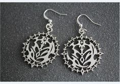 Pandora Hearts inspired contract clock jewelry woman earrings from dark charm
