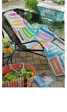 Skinny Dip Jelly Roll Quilt Pattern From Magazine