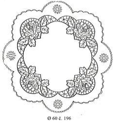 Kvetinové vzory | Richelieu samostatné vzory | 196 okrúhly obrus @60 bez krajky | gemerga - šperky z chirurgickej ocele, bižutéria, šperky SWAROVSKI, najširšia ponuka predtlačených obrusov, gravírovanie