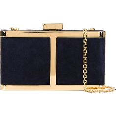 Maiyet 'The Butterfly' box clutch (4.155 BRL) ❤ liked on Polyvore featuring bags, handbags, clutches, blue, navy blue purse, box clutch, butterfly purse, blue purse and hard clutch