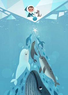 Wonderful illustration by Joey Chou for his 2013 holiday card. Joey Chou, Children's Book Illustration, Winter Illustration, Christmas Illustration, Pics Art, Grafik Design, Cute Art, Concept Art, Character Design