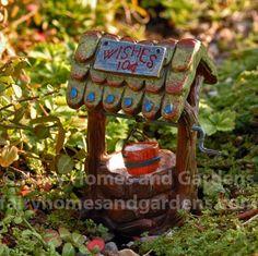 Fairy Homes and Gardens - Miniature Fairytale Wishing Well, $8.95 (http://www.fairyhomesandgardens.com/miniature-fairytale-wishing-well/)