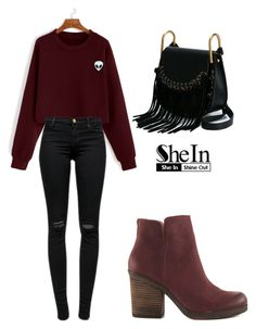 """""""SHEIN Sweatshirt"""" by tania-alves ❤ liked on Polyvore featuring Lucky Brand, J Brand and Chloé"""