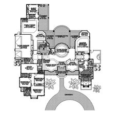 Modern House Plan First Floor - 106S-0011 | House Plans and More