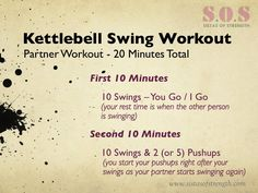 Partner Kettlebell Swing Workout from @amandamaryperry #fitfluential