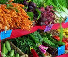 Fruits and veggies at the Beaverton Farmers market