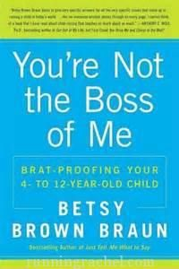 You're Not the Boss of Me book review