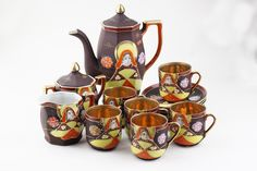Fine Bone China #Chinese Tea or Coffee Set #Teapot Cups and #Saucers Sugar Bowl a,  View more on the LINK: http://www.zeppy.io/product/gb/3/233984303/