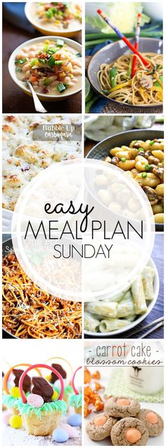 Easy Meal Plan #38 - Every one of these dinner ideas looks so easy and delicious!