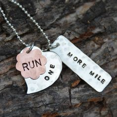 Running Jewelry: The Perfect Run. Sterling Silver Running Necklace. Running Charms, Running Pendant, Run Charms, 26.2, 13.1