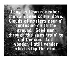 CCR - Who'll Stop The Rain song lyrics music lyrics