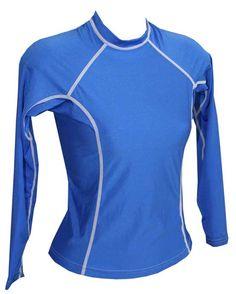 Womens Rash Shirt - Long Sleeve Royal Blue f62542257