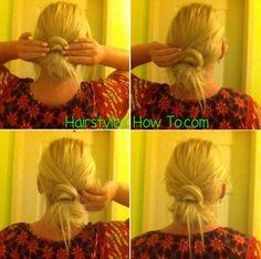 messy hair wrap bun