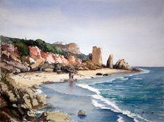 Jose Luis Molina Mora, watercolor, Portugal