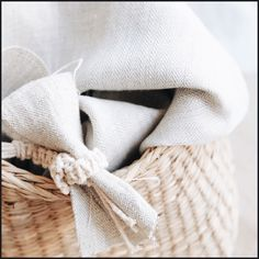 Shabby Linen (lescreations.com): basket #linen #boho #chic #bohochic #monochrome #interior #interiordesign #home #homedesign #homedecor #decor #decoration #homesweethome #textiles #textildesign #fabric
