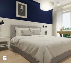Aranżacje wnętrz - Sypialnia: Projekt mieszkania w Rzeszowie, 65 m2 - Średnia sypialnia małżeńska z balkonem / tarasem, styl nowoczesny - TIKA. Przeglądaj, dodawaj i zapisuj najlepsze zdjęcia, pomysły i inspiracje designerskie. W bazie mamy już prawie milion fotografii!