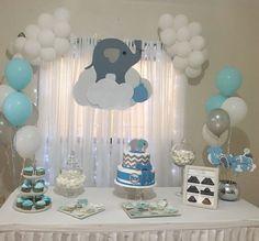New baby shower ideas centros de mesa para varon Ideas Baby Shower Cupcakes, Baby Shower Fun, Baby Shower Favors, Shower Party, Baby Shower Parties, Baby Shower Themes, Shower Ideas, Shower Gifts, Elephant Cupcakes
