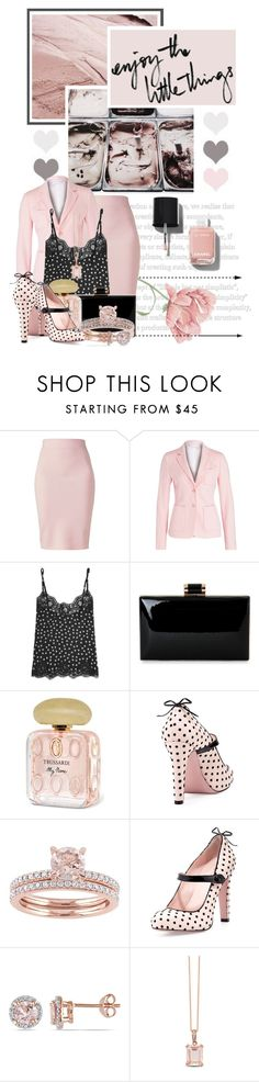 """""""enjoy the little things"""" by queenrachietemplateaddict ❤ liked on Polyvore featuring Winser London, Dolce&Gabbana, Trussardi, RED Valentino, Allurez, Effy Jewelry and Chanel"""