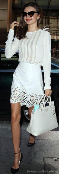 Street Style | Miranda Kerr | Model | All White | Summer