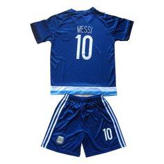Argentina Fodboldtøj Børn 2016 Lionel Messi 10 Udebane Trøje Kortærmet.  http://www.fodboldsports.com/argentina-fodboldtoj-born-2016-lionel-messi-10-udebane-troje-kortermet.  #fodboldtrøjer