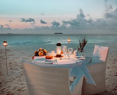 """World Resorts Of Distinction on Instagram: """"One of our favourite things about Coco Palm Dhuni Kolhu is that they create bespoke experiences for you to ensure your stay is totally…"""" #maldives #romance #privateisland #romanticdinner #sunset #dusk #magichour Magic Hour, Romantic Dinners, Maldives, Bespoke, Palm, Romance, Table Decorations, World, Create"""