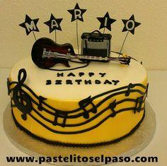 Electric Guitar Birthday Cake cakepins.com