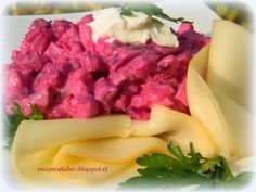 Mamka varí ♥ : ŠALÁT CVIKLOVÝ Potato Salad, Cabbage, Potatoes, Vegetables, Ethnic Recipes, Food, Potato, Essen, Cabbages