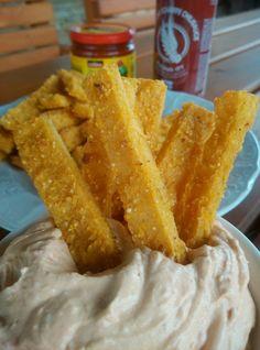 Pečené hranolky z polenty
