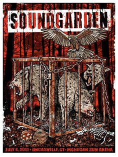 Soundgarden Rusty Cage Telephantasm King Animal Wolves by gigart