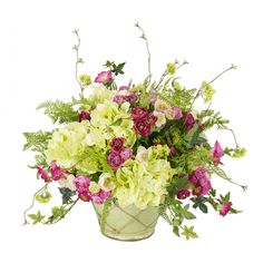 Faux Ranunculus & Hydrangea