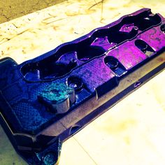 Valve cover hydro dipped and finished with a mistic chrome clear coat.