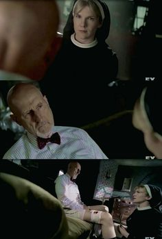 Sister Mary Eunice and Dr. Arthur Arden in American Horror Story: Asylum, episode 5 I Am Anne Frank part 2