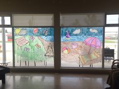 Window painting with the residents #summer #
