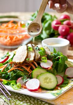 Chicken Vietnamese Salad | A Spicy Perspective #Vietnamese #healthy #salad