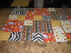 Another child's quilt (in progress).  When finished I sold this at Quiltfest.