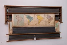vintage map storage & dsiplay. would love this