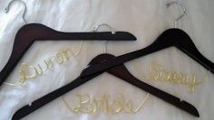 Check out this item in my Etsy shop https://www.etsy.com/listing/160529573/wedding-hanger-hanger-one-line
