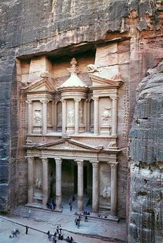 Petra, Jordan. I've read about this place and even seen it in movies but I'd love to see it for myself one day.