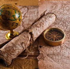 an old map, a compass, an adventure….!