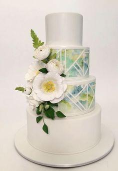 Cake by Ron Ben-Israel Cakes Elegant Wedding Cakes, Wedding Cake Designs, Wedding Cupcakes, Elegant Cakes, Pretty Cakes, Beautiful Cakes, Amazing Cakes, Bolo Original, Geometric Cake