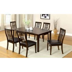 Furniture of America Aurora Transitional Walnut 7-piece Dining Table Set | Overstock.com Shopping - Big Discounts on Furniture of America Dining Sets