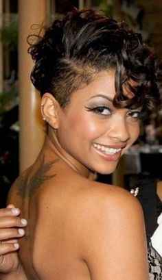 female shaved nape and sides - Google Search