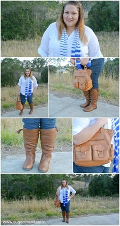 plus size tan boots, jeans and white shirt outfit, plus size fashion, outfit of the day, ootd,