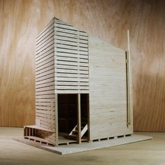 Ultra-Ruin / Marco Casagrande - Wood architectural physical model